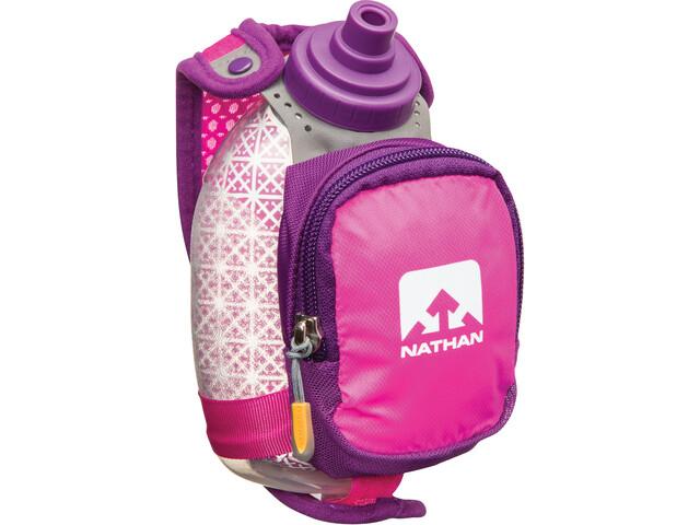 Nathan QuickShot Plus Insulated Handheld 300ml floro fuchsia/imperial purple